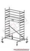 Rusztowanie przejezdne aluminiowe - ProTec | wys. rob. 4,3m