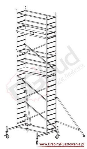 Rusztowanie przejezdne aluminiowe - ProTec | wys. rob. 7,3m