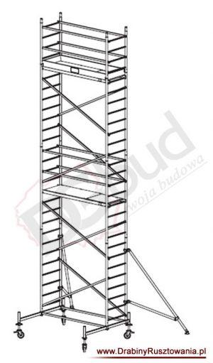 Rusztowanie przejezdne aluminiowe -  ProTec | wys. rob. 8,3m