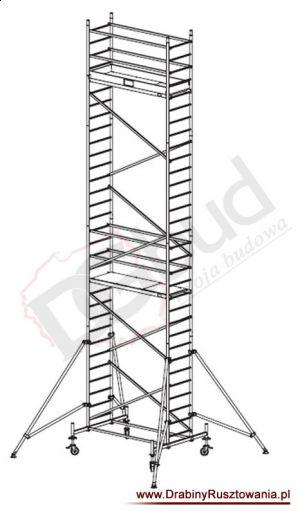 Rusztowanie przejezdne aluminiowe -  ProTec | wys. rob. 9,3m