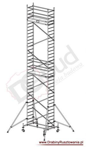 Rusztowanie przejezdne aluminiowe -  ProTec | wys. rob. 10,3m
