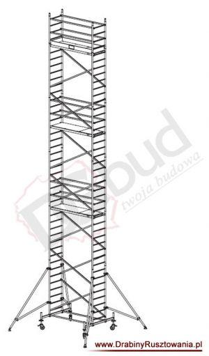 Rusztowanie przejezdne aluminiowe -  ProTec | wys. rob. 12,3m