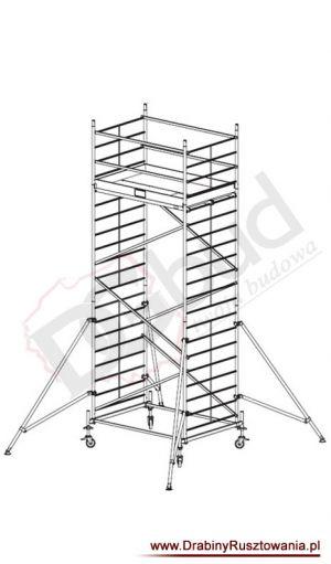 Rusztowanie przejezdne aluminiowe - ProTec XXL   wys. rob. 6,3m