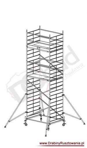 Rusztowanie przejezdne aluminiowe - ProTec XXL | wys. rob. 7,3m