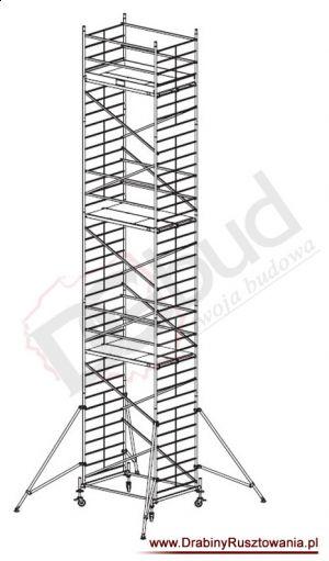 Rusztowanie przejezdne aluminiowe - ProTec XXL | wys. rob. 11,3m