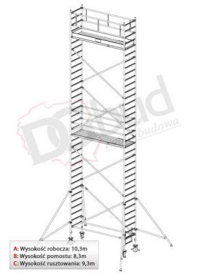 Rusztowanie przejezdne aluminiowe- STABILO 1000 | wys. rob. 10,3m