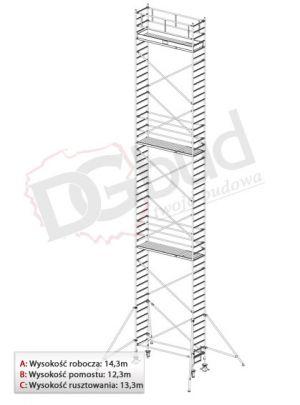 Rusztowanie przejezdne aluminiowe- STABILO 1000 | wys. rob. 14,3m