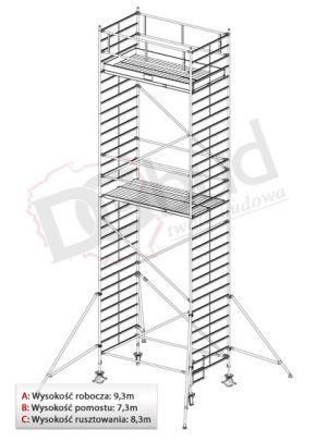 Rusztowanie przejezdne aluminiowe- STABILO 5000 | wys. rob. 9,3m