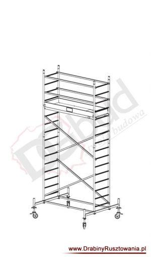 Rusztowanie przejezdne aluminiowe - ProTec  | wys. rob. 5,3m