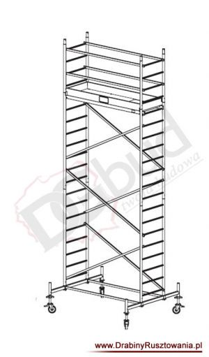 Rusztowanie przejezdne aluminiowe - ProTec  | wys. rob. 6,3m
